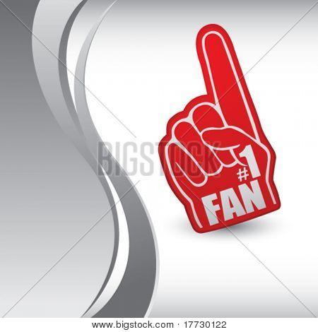 fan hand vertical silver wave