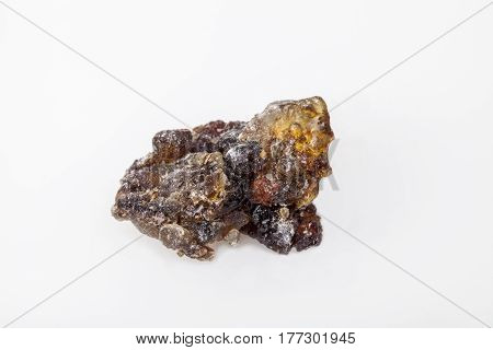 Black Frankincense Oman, isolated on  the white background