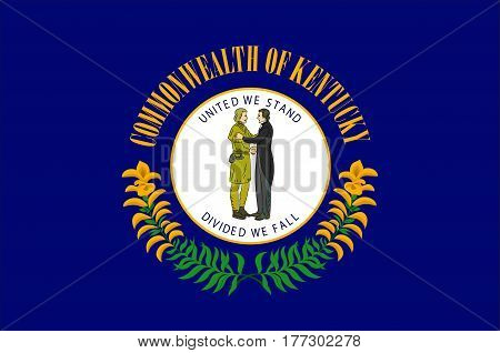 Flag of Kentucky state in United States. Vector illustration