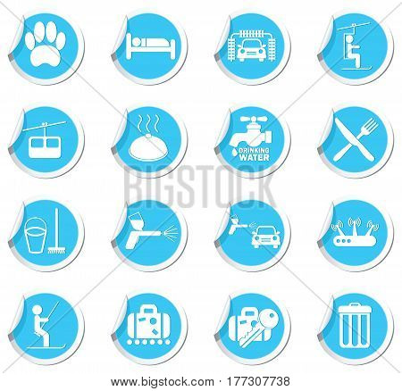 Service Icons on the blue labels set
