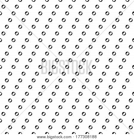 Trendy abstract stripe pattern with hand drawn doodle dots. Cute vector black and white stripe pattern. Seamless monochrome diagonal stripe pattern for fabric, wallpapers, wrapping paper and cards.