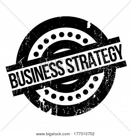 Business Strategy rubber stamp. Grunge design with dust scratches. Effects can be easily removed for a clean, crisp look. Color is easily changed.