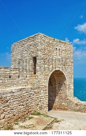 Barbican of an Old Fortress on the Cape Kaliakra Bulgaria