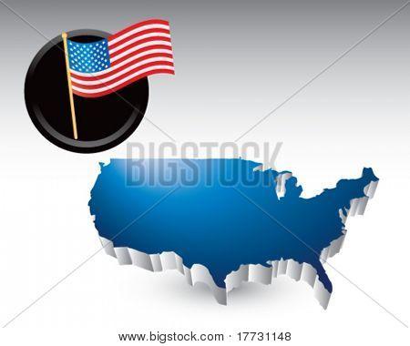 american icon blue united states icon