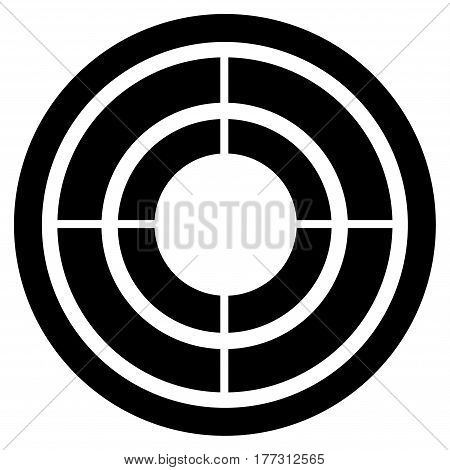 Target vector icon. Flat black symbol. Pictogram is isolated on a white background. Designed for web and software interfaces.