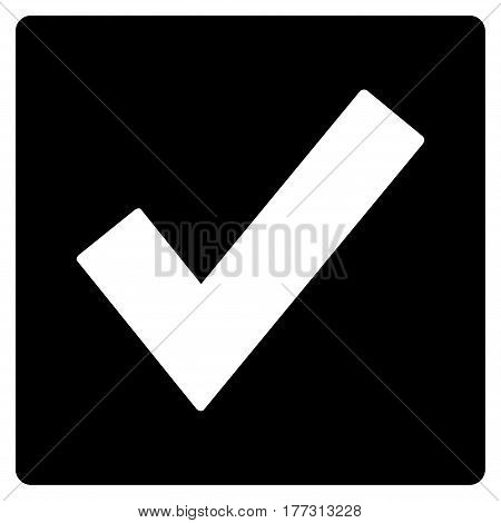 Valid vector icon. Flat black symbol. Pictogram is isolated on a white background. Designed for web and software interfaces.
