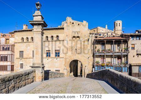 Stone Bridge In Valderrobres, Spain