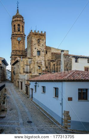 Street View In La Iglesuela Del Cid, Spain