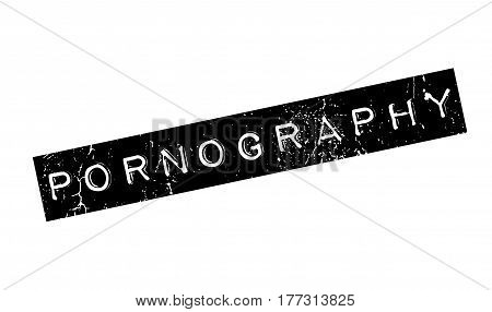Pornography rubber stamp. Grunge design with dust scratches. Effects can be easily removed for a clean, crisp look. Color is easily changed.
