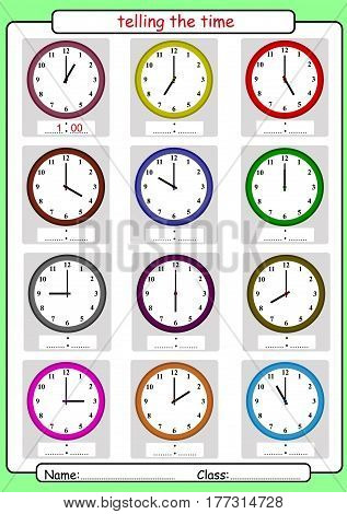 What time is it What is the time whole hours