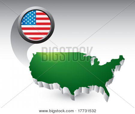 USA-Symbol grün-USA-Symbol