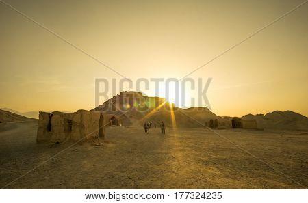 old zoroastrian silence tower in Yazd - Iran