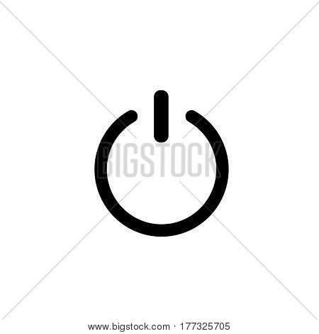 shut down symbol . Switch off simple symbol
