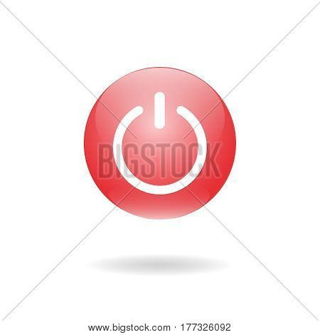 shut down button. Bright switch off button