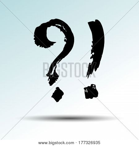 question mark illustration exclamation drawing solution point communication emblem
