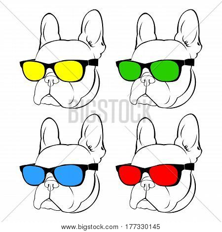 dog vector breed cute pet animal bulldog frenchdog vector breed cute pet animal bulldog frenchdog vector breed cute pet animal bulldog french