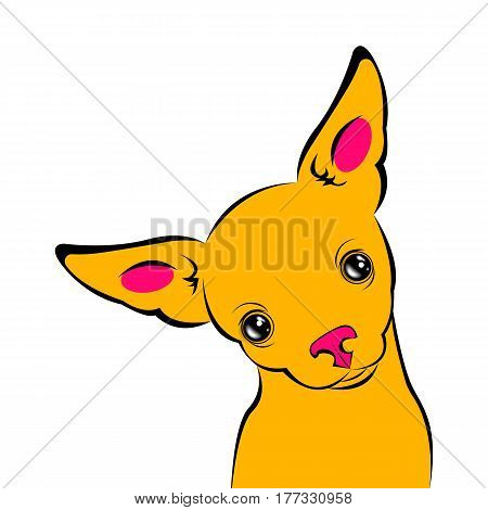dog vector funny little home eared background
