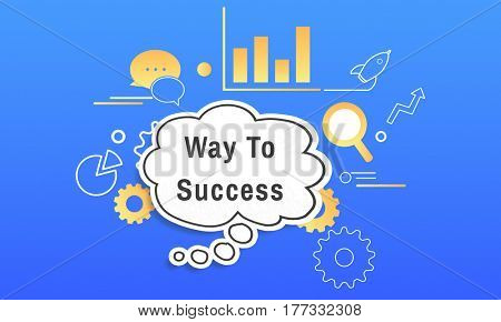 Way To Success Speech Bubble Chart