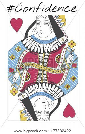 Queen Card Feminine Women Graphic