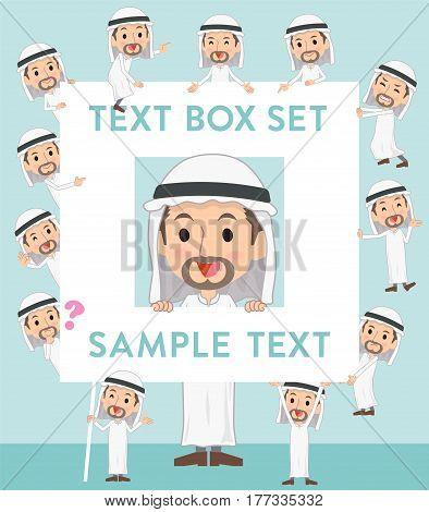 Arab Man Text Box
