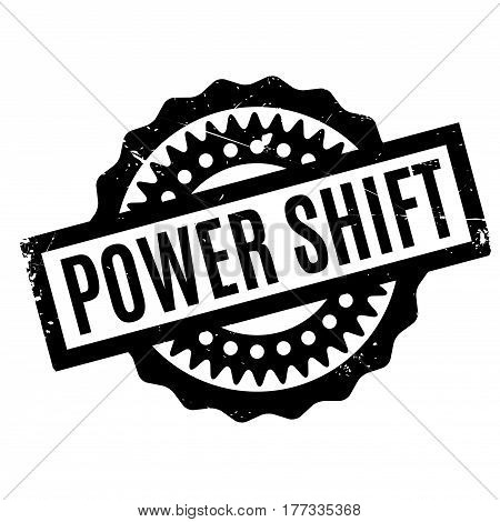 Power Shift rubber stamp. Grunge design with dust scratches. Effects can be easily removed for a clean, crisp look. Color is easily changed.