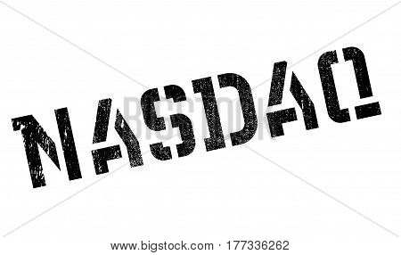 Nasdaq rubber stamp. Grunge design with dust scratches. Effects can be easily removed for a clean, crisp look. Color is easily changed.