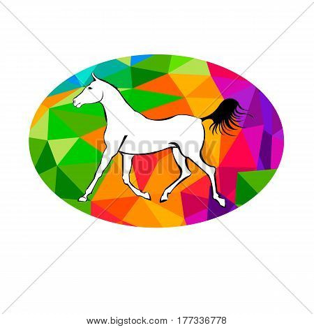 rearing horse fine vector silhouette, vector horse animal illustration mustang
