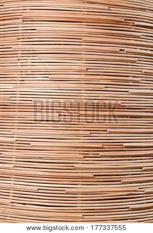 traditional thai style pattern nature background of brown handicraft weave texture rattan surface for furniture material