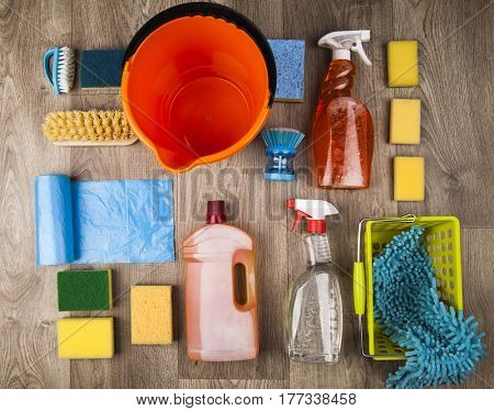 Set of cleaning products