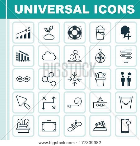 Set Of 25 Universal Editable Icons. Can Be Used For Web, Mobile And App Design. Includes Elements Such As Messaging, Sea Rescue, Solution And More.