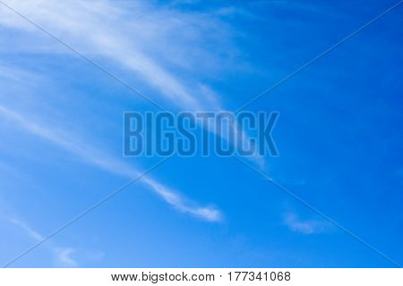 The Nature Abstract Of White Cloud And Blue Sky Background.