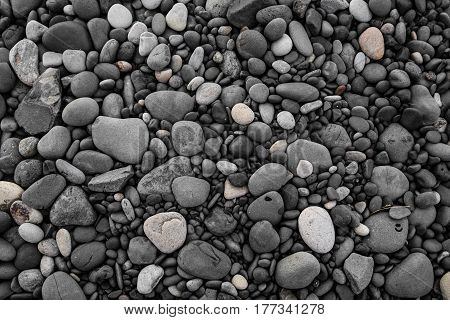 Pebbles stone texture backgrounds, black stone background