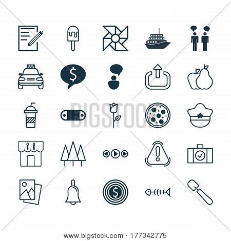 Set Of 25 Universal Editable Icons. Can Be Used For Web, Mobile And App Design. Includes Elements Such As Shovel, Exit, Business Deal And More.