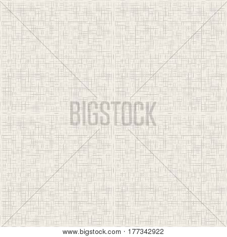 Grey canvas texture seamless pattern vector. Grey grunge linen fabric textile