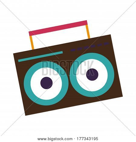 boombox icon over white background. colorful design. vector illustration