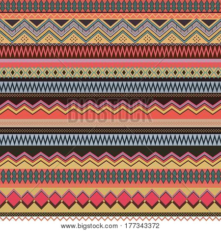 Abstract background with traditional ethnic south american ornament in fashion