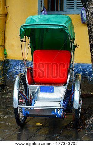 Cycle Rickshaw (cyclo) In Hoi An Town, Vietnam