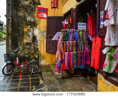 Fashion Shop In Hoi An Ancient Town, Vietnam
