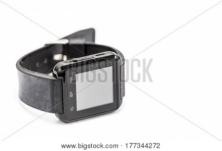 black smart watch isolated on a white background