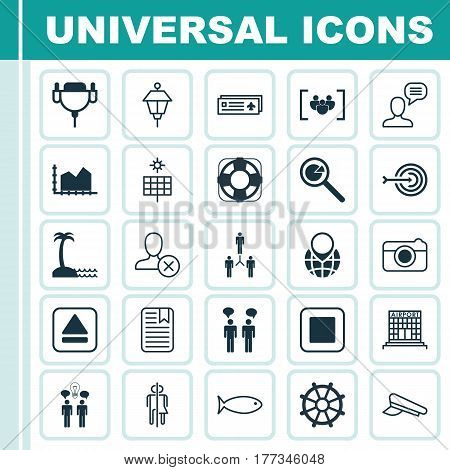 Set Of 25 Universal Editable Icons. Can Be Used For Web, Mobile And App Design. Includes Elements Such As Project Analysis, Team Meeting, Restroom And More.