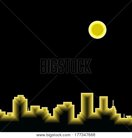 city silhouette vector architecture cityscape abstract illustration downtown