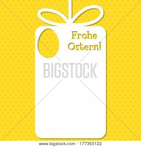 Easter Cut Out Tag Card In Vector Format. Words Translate To