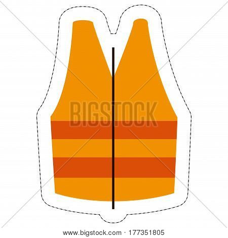 safety vest icon over white background. under construction design. vector illustration