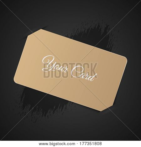 Gift Bussines Card With Title Mockup  Vector Illustration Eps 10