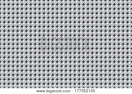 Gray eamless pattern made of pearls. Vector illustration.