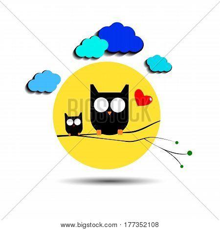owl vector nature illustration bird art design graphic animal style
