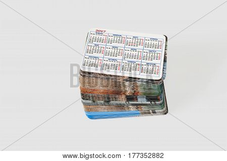 Set photo cards. Isolated on a light gray background.