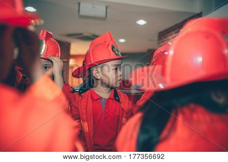 Ho Chi Minh City, Viet Nam - 17 June, 2016: Children Having Fun In .indoors Playground As The Firema