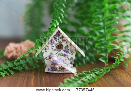 Model House On Wooden Table