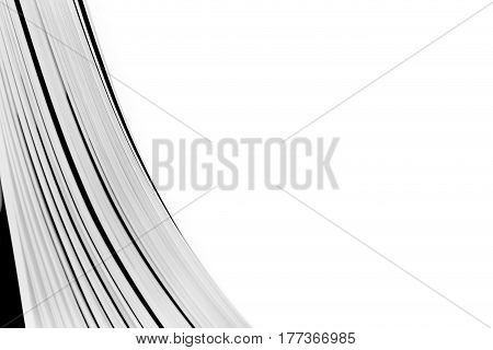Abstract background with turning pages. Macro view book pages with empty place.